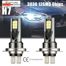 2x 12V 55W H7 LED Headlight Xenon Bulbs Kit Car Fog Light 6000K Super White