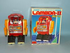SUPER MACHINE LAMBDA -II ROBOT BATTERY TOY ORIGINAL BOX HORIKAWA JAPAN