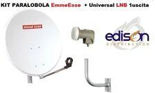 Kit parabola satellitare 80cm EmmeEsse con LNB universale e staffa da parete 90°