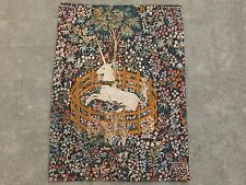 Vintage French Beautiful The Unicorn Tapestry 65x48cm (A1070)