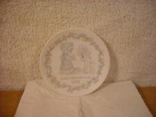 "Precious Moments 1988 Merry Christmas Deer 4"" Plate"