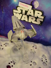 STAR WARS✰SITH INFILTRATOR✰with flight stand✰Hot Wheels loose Starship Vehicle