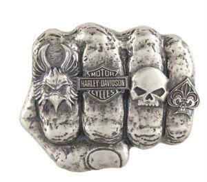 Harley-Davidson® Men's Fist Forward Bar & Shield Willie G Belt Buckle HDMBU11417