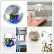 Wall Mounted Hanging Pot Plant Fish Tank Bubble Bowl Aquarium Home Decor 10*10cm