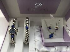Belacci Women's  Quartz  Analogue stone watch & Bracelet with Pendant & Earrings