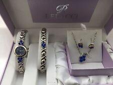 Belacci Women's  Quartz  Analogue stone watch & Bracelet with Pendant & Earrings