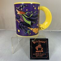 Vintage Applause Witchware Halloween Witch Mug Cup Coffee Tea Fall Spooky Stars
