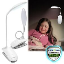 Rechargeable USB Large Clip On LED Desk Lamp Home Office Bed Reading Night Light
