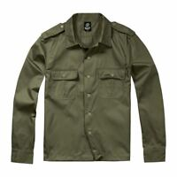 Brandit Combat Shirt Military Army Style Long Sleeve Olive Green
