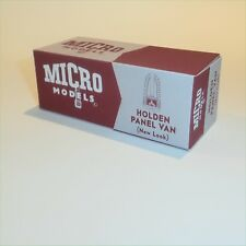 Micro Models GB 21 Holden Panel Van New Look empty Reproduction box