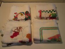 (M) Lot of 4 Christmas Theme Terrycloth Dish Towels, All Different
