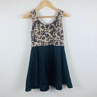 Caroline Morgan Womens Dress Size 10 Petite A-Line Dress Leopard Print Design