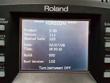 More details for os firmware system update version 1.1.1 operating system only for roland e50