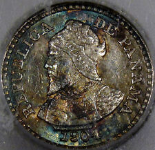 1904 Panama 2 1/2 Cent Piece Gem BU ICG MS-64...Flashy with Amazing Toning, NICE