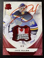 Jake Allen 15-16 The Cup Red Foil Tag Auto S/N 4/4 Autograph Blues