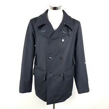 Stone Island Mantel Herren L Blau Wolle S.I. Denims Duffle Coat Caban Wollmantel