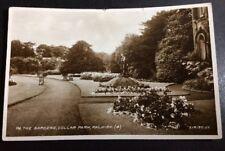 Vintage Falkirk Postcard In The Gardens Dollar Park Valentine's B/W P/U 1930(?)