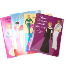 Lot of 4 Vintage Fashion Designs Glamorous Movie Star Princess Paper Dolls Books