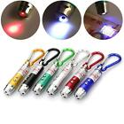 3 in 1 Multifunction Mini Laser Light Pointer UV LED Torch Flashlight Keychain