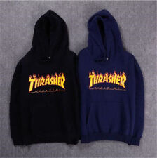 Autumn Winter Women/Men Thrasher Hip-hop Skateboard Hoodie Sweater Sweatshirts