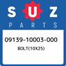 09139-10003-000 Suzuki Bolt(10x25) 0913910003000, New Genuine OEM Part