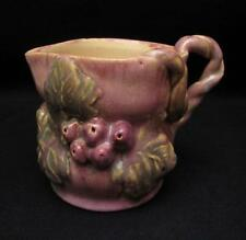 UNA DEERBON AUSTRALIAN POTTERY GRAPE LEAF JUG TWISTED VINE HANDLE SIGNED