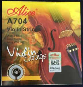 Alice 704 Violin Strings Set 4/4 E-A-D-G  Fiddle String Steel Core Sydney Stock