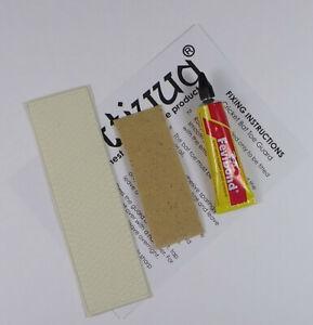 Opttiuuq Cricket Bat Repair Kit 1 Toe Guard Set Glue Fixing Guide -1- White