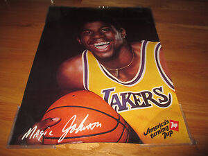 1981 Feelin' 7up MAGIC JOHNSON Los Angeles Lakers SUPER STAR Poster