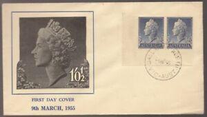 1955 Australia Queen Elizabeth 11 Blue Unused FDC by ???