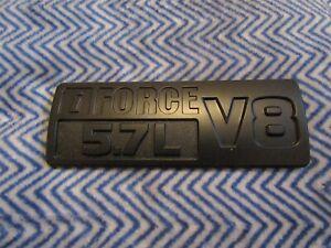 TOYOTA SEQUOIA TUNDRA IFORCE 5.7L V8 FENDER EMBLEM IN MATTE BLACK #53