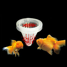 New Aquarium Basket Feeder Fish Food Live Worm Bloodworm Cone Feed Tool QH