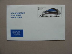 FINLAND, aerogramme  PC postage paid 1986 mint, feather