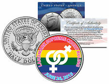 Gay Pride Lesbian MARRIAGE EQUALITY Colorized 2015 JFK Half Dollar US Coin 6/26