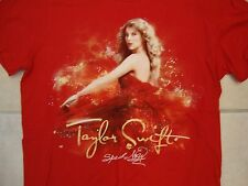 Taylor Swift Pretty Beautiful Pop Star Singer Speak Now Tour Red T Shirt S