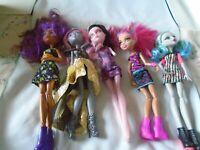 Monster High Dolls Lot of 5