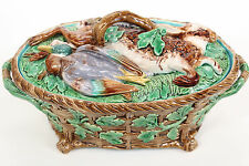 Minton Majolica Hare and Mallard Game Pie Dish Cover 1864