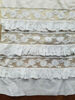 Antique French Lace Trim Fabric Cutter Salvage Costume Sewing Bisque Doll A34