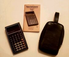 Vintage 1977 Texas Instruments TI-55 Calculator Manual Case Non-working Parts