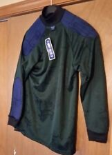 vintage stykes goalie jersey Size Small green/blue Padded Shoulder and Elbow NTW