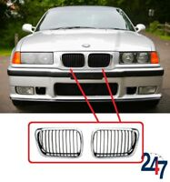 NEW BMW 3 SERIES E36 1996 - 1998 FRONT KIDNEY GRILL CHROME PAIR SET RIGHT LEFT