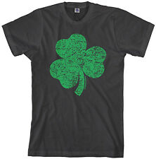 Threadrock Men's Distressed Green Shamrock T-shirt Irish Pride