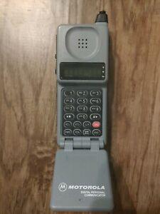 Vintage Cellular One  MOTOROLA Digital Personal Communicator Early Flip Phone