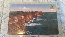 Helgoland Westküste bei Sturm AK Postkarte 6013