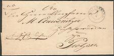 Vorphilatelie Brief Wittenberg nach Pretzsch, mit Inhalt, 29. März 1842 RARE