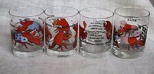 VTG Louisiana Crawfish Rocks Glass Cups Mardi Gras New Orleans Holmes-Style 1981