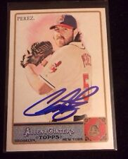 CHRIS PEREZ 2011 TOPPS ALLEN GINTERS Autographed Signed AUTO Card 71 INDIANS