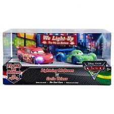 / Pixar Cars Cars 2 Light Up Lightning McQueen vs Carla Veloso Diecast Car Set