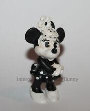 "1980's Comics Spain Pvc Spitting Image 3.5"" Minnie Mouse Figure Disney Black & W"