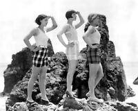 ACTRESSES LOUISE BROOKS, SALLY BLANE & NANCY PHILLIPS 1927 - 8X10 PHOTO (FB-571)